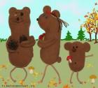 Украшение Три медведя